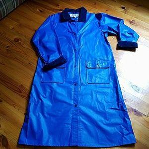 Talbots blue raincoat